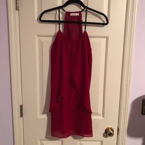 HOMECOMING Red Beaded Mini Dress